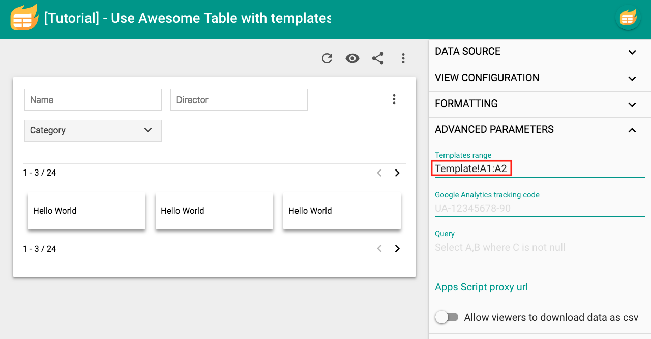 Part 2] Set up your template – Documentation - Awesome Table